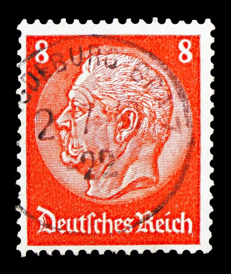 Paul von Hindenburg (1847-1934), ò presidente, serie de Medalion, cerca de 1933 foto de stock