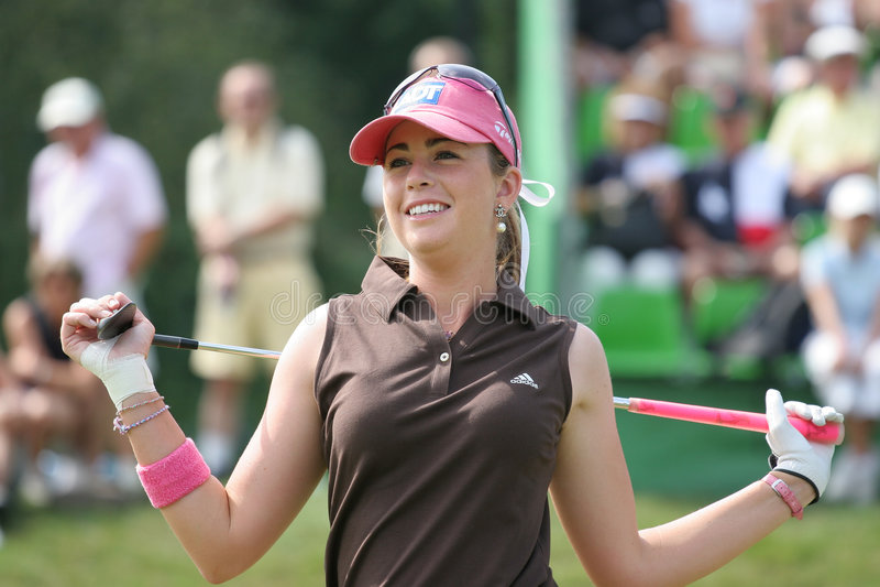 Paula Creamer Evian Golf Masters 2006 stock photos