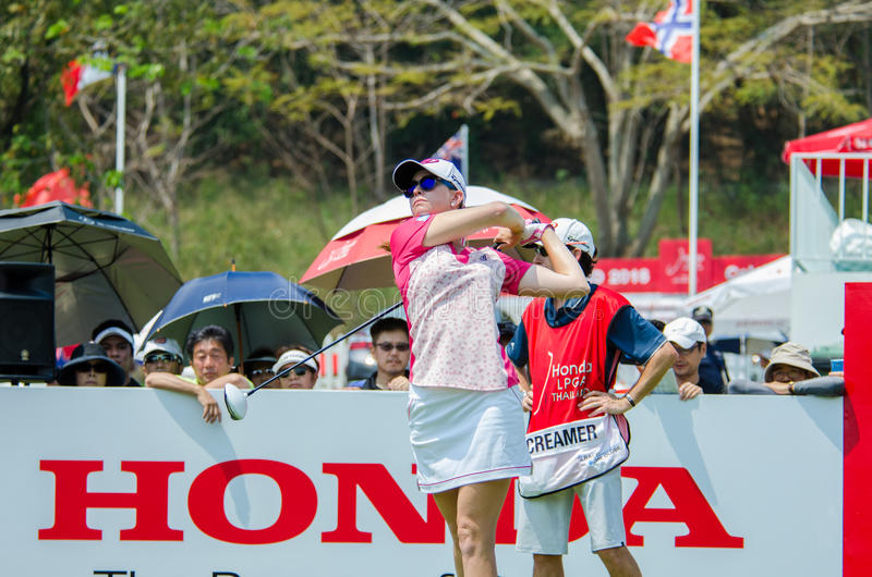 Paula Creamer of USA in Honda LPGA Thailand 2016 stock image