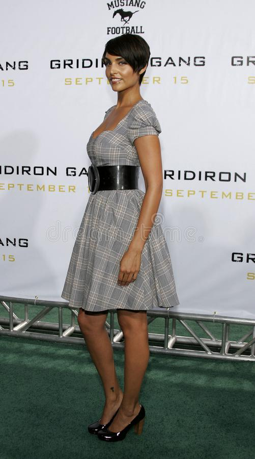 Paula Miranda. At the Los Angeles premiere of `Gridiron Gang` held at the Grauman`s Chinese Theatre in Hollywood, California United States on September 5, 2006 royalty free stock photography