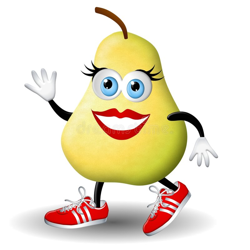 Download Paula Pear Running Healthy stock illustration. Image of character - 4882560