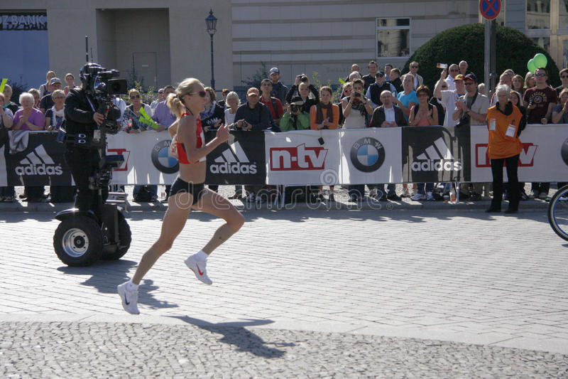 Paula Radcliffe fotografia stock
