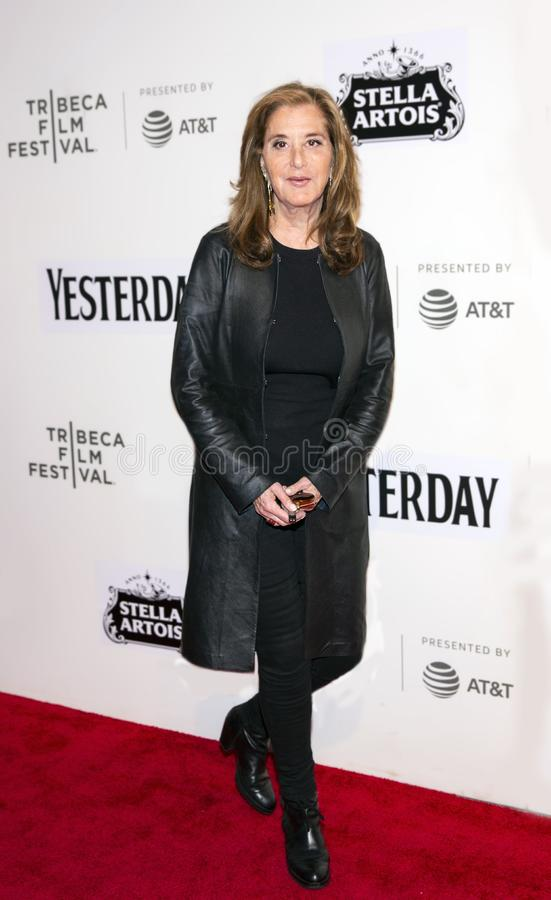 Paula Weinstein at World Premiere of `Yesterday,` Closing Night Gala at 2019 Tribeca Film Festival. Television producer Paula Weinstein arrives at the World royalty free stock images