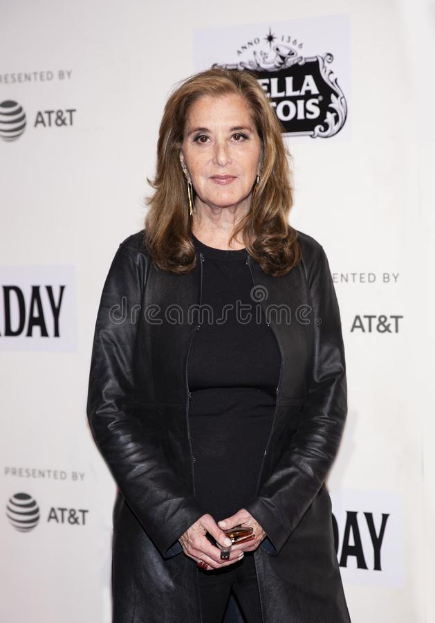 Paula Weinstein at World Premiere of `Yesterday,` Closing Night Gala at 2019 Tribeca Film Festival. Television producer Paula Weinstein arrives at the World stock images