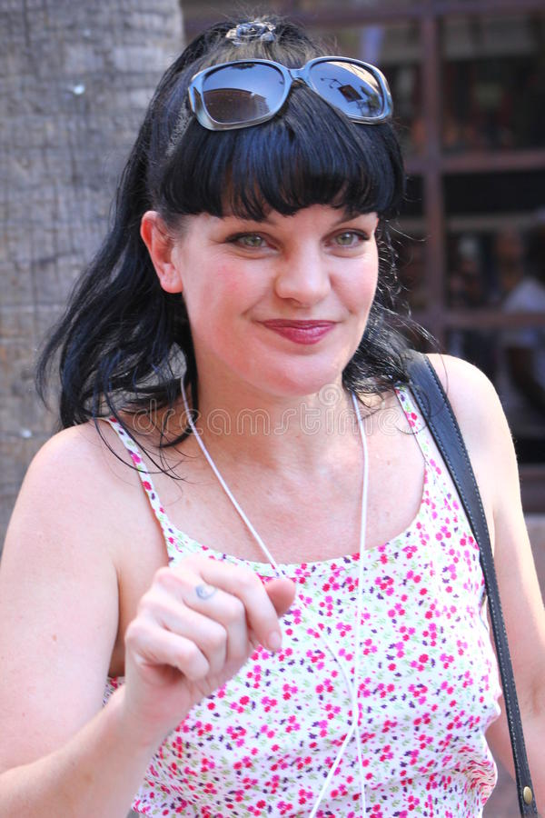 Download Pauley Perrette editorial stock photo. Image of perrette - 26914213