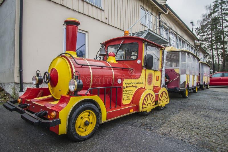 Paulinchen expresso, trem do turista de Hamburgo foto de stock