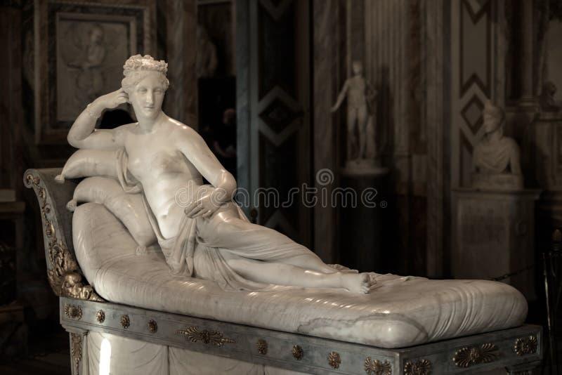 Pauline Bonaparte por Antonio Canova fotos de stock
