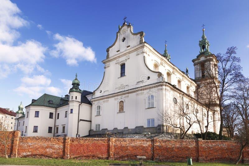 Pauline Fathers Monastery au-dessus du fleuve Vistule à Cracovie, Pologne photographie stock libre de droits