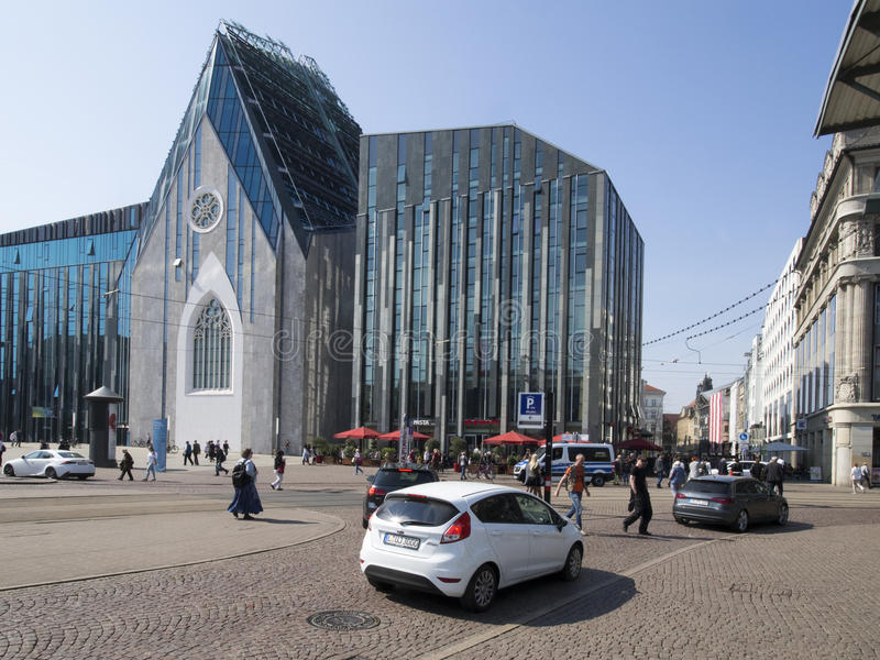 Paulinum-Church of the University of Leipzig, Germany stock image