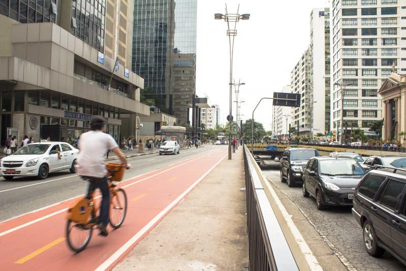 Paulista aveny royaltyfri bild