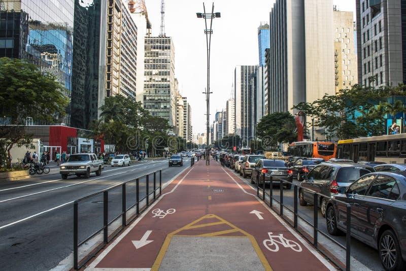 Paulista aveny royaltyfri foto