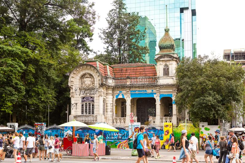 Paulista aveny, Sao Paulo, Brasilien arkivfoto