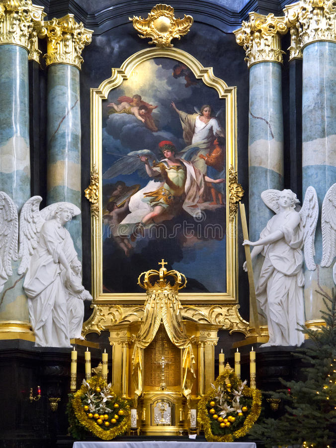Paulite Kirche - Krakau - Polen stockfotos