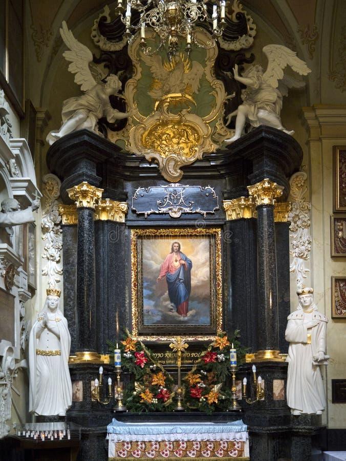Paulite Kirche - Krakau - Polen lizenzfreies stockbild