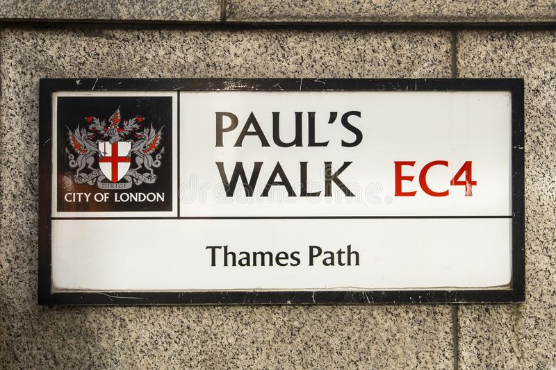Pauls Walk on the Thames Path in London stock photo