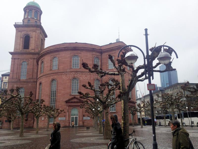 Paulskirche, iglesia famosa en Francfort Oder, Alemania fotografía de archivo