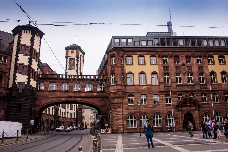 Paulsplatz in Frankfurt royalty-vrije stock fotografie