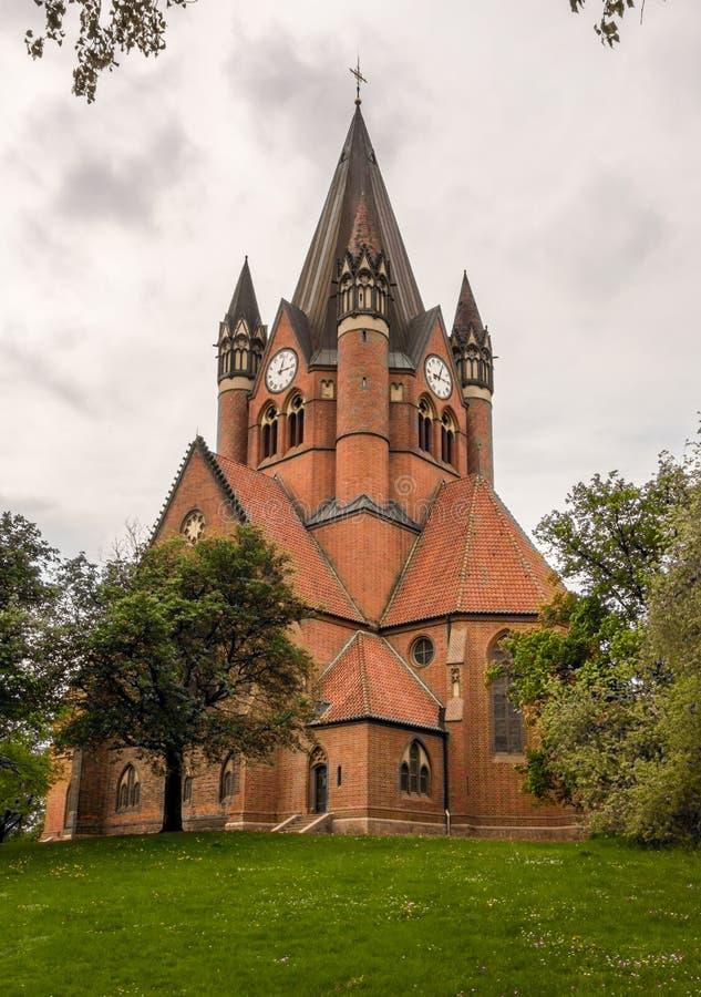 Pauluskirche Halle stock afbeeldingen