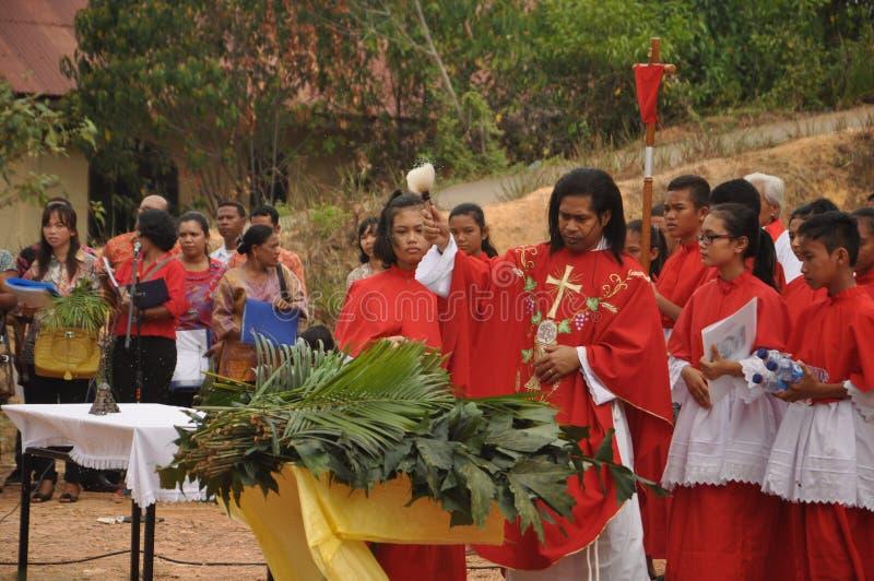 Paume dimanche dans Batam, Indonésie images libres de droits