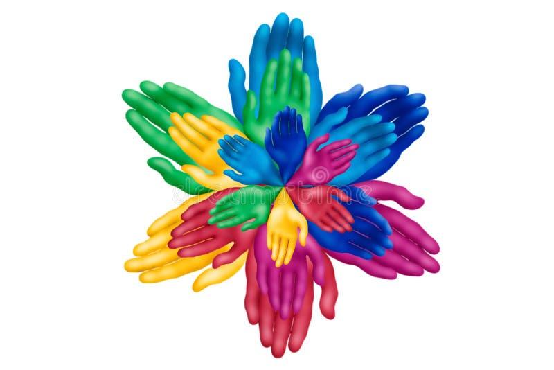 Paume flower-2 illustration de vecteur