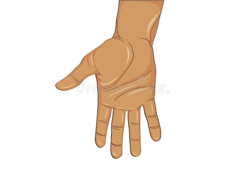 Paume ouverte de geste La main donne ou reçoit Illustration de vecteur illustration de vecteur
