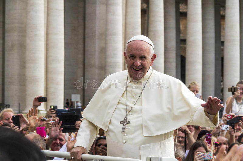 Paus Francis stock foto's