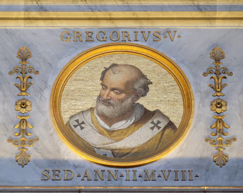 Paus Gregory V royalty-vrije stock foto's