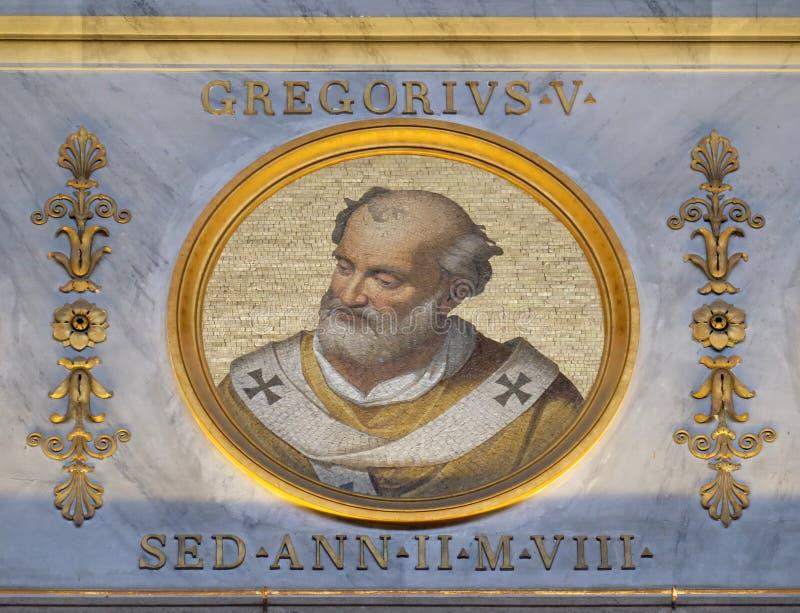 Paus Gregory V royalty-vrije stock fotografie