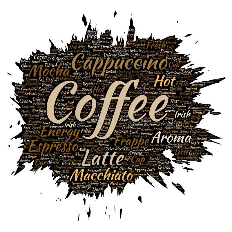 Pausa caffè, cappuccino o caffè espresso di mattina di vettore illustrazione vettoriale