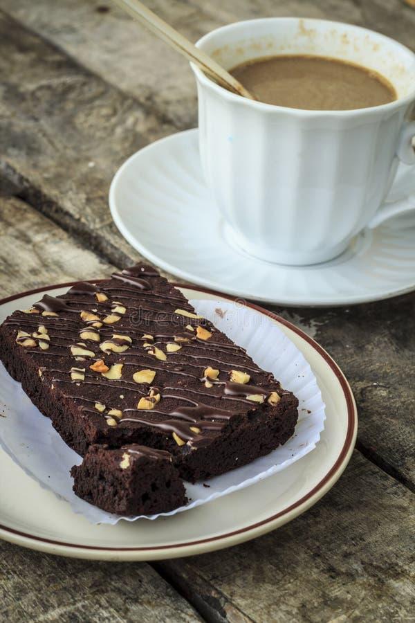 Pausa caffè con i brownie immagini stock