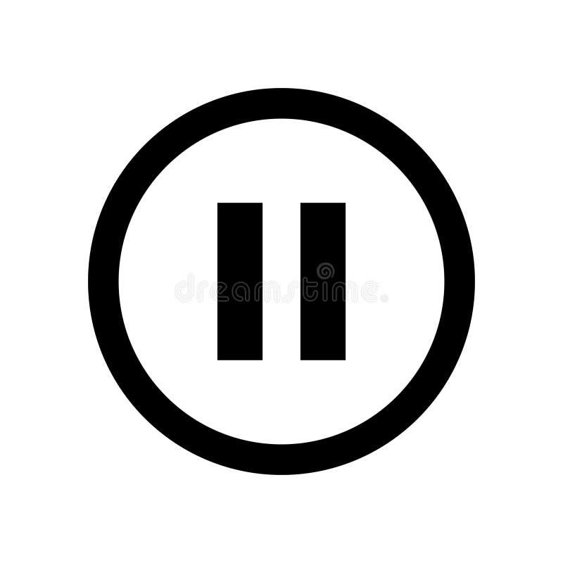 Pausa o ícone em um estilo liso ilustração do vetor