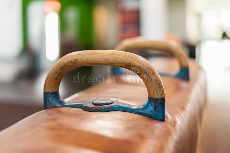 Pausch horse sport device in fitness studio stock photo