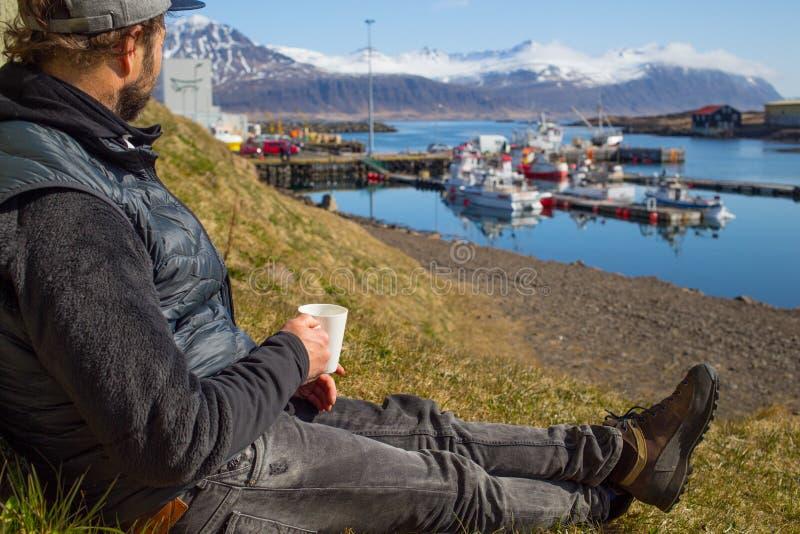 Pause-café Islande photo stock