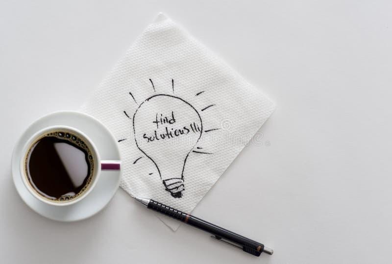 Pause-café pour des idées d'affaires images libres de droits