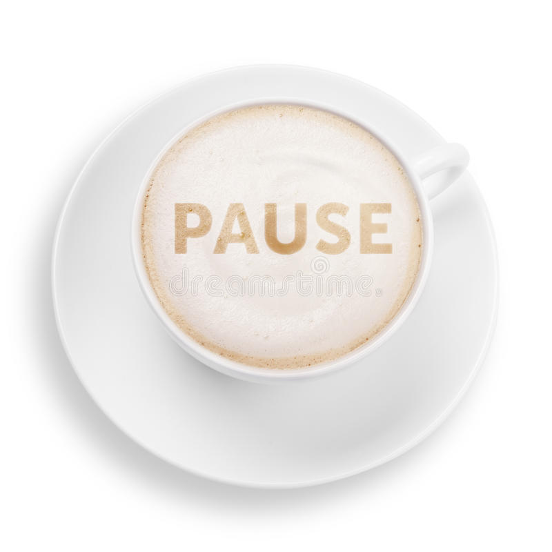 Pause stock images