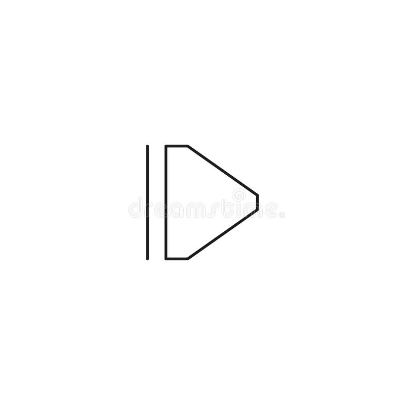 pause linear icon vector illustration