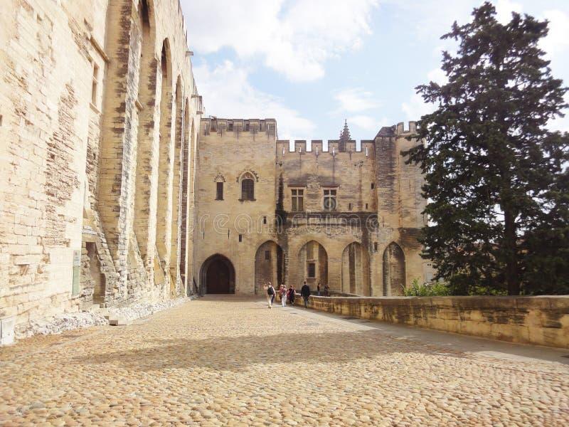 Pauselijk Paleis, Avignon stock afbeeldingen