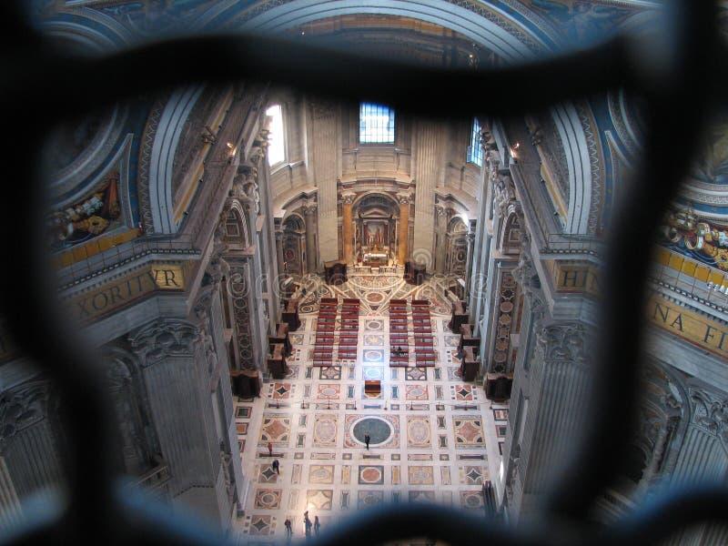 Pauselijke Basiliek van St Peter stock foto