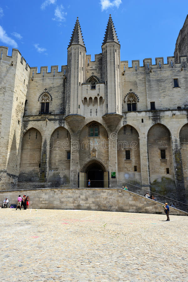 Pausenpaleis, Avignon stock foto