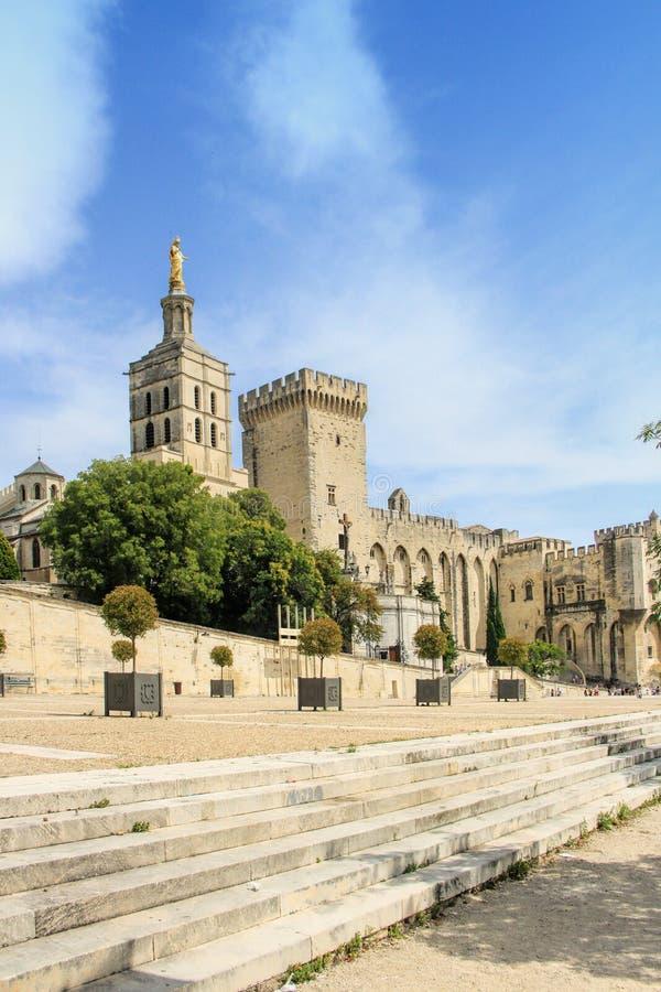 Pausenpaleis in Avignon, Frankrijk royalty-vrije stock foto