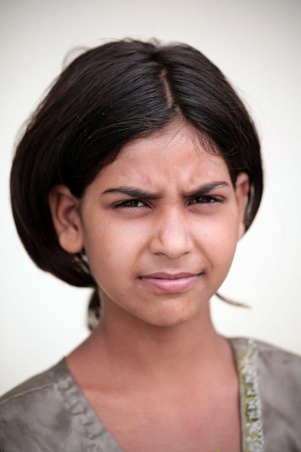 Pauvre fille de village photos stock