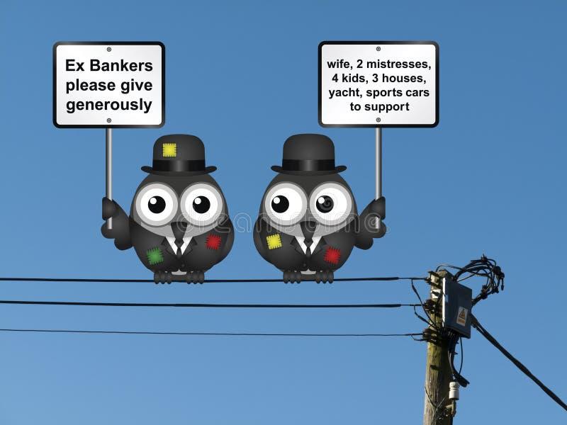Pauvres banquiers comiques illustration de vecteur