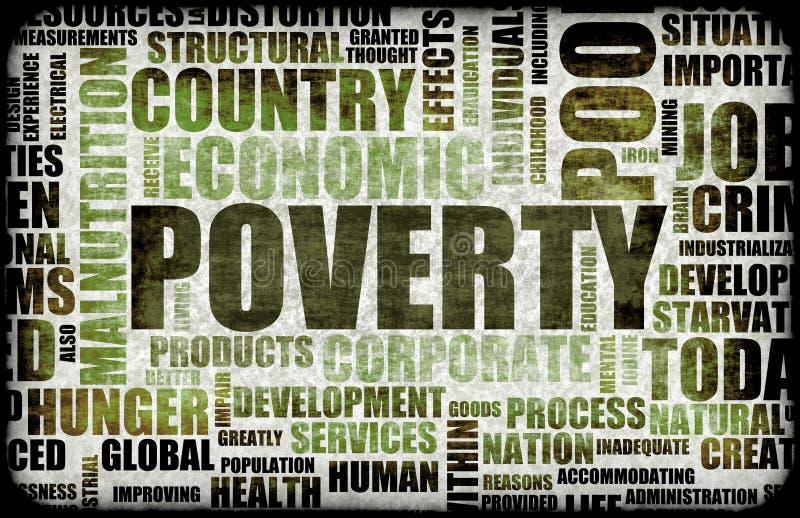 pauvreté illustration stock