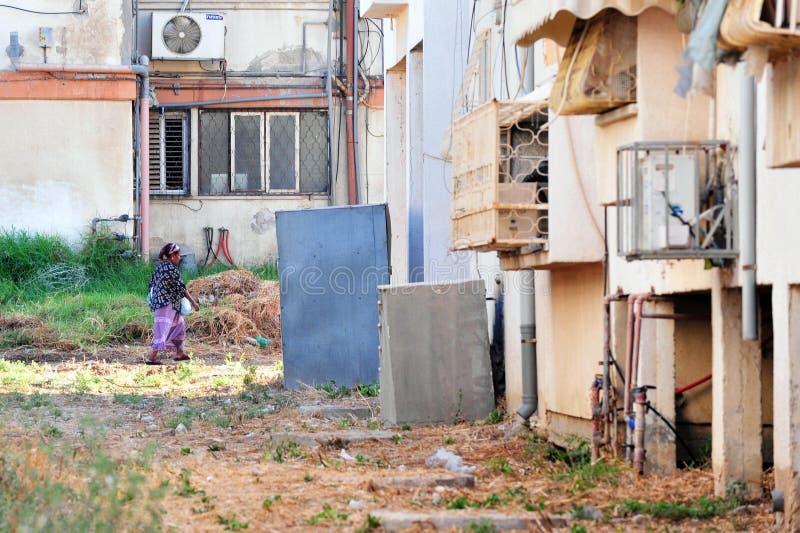 Pauvreté dans Kiryat Malachi, Israël photos stock