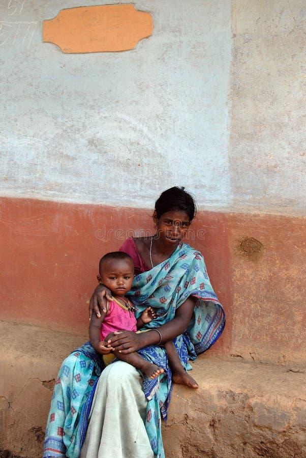 Pauvreté en Inde image libre de droits