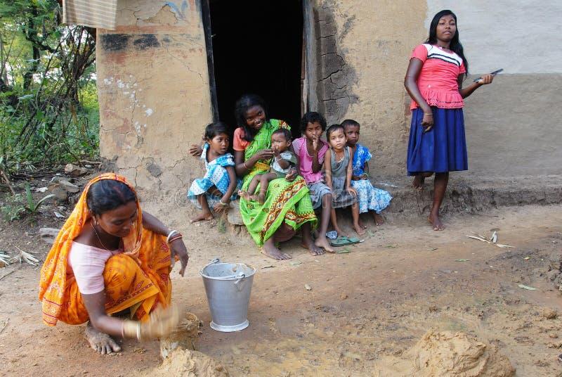 Pauvreté en Inde photographie stock libre de droits