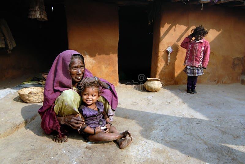Pauvreté tribale photographie stock libre de droits