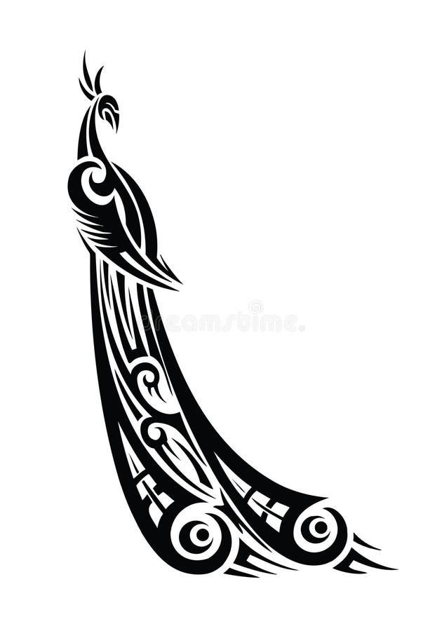 Pauw stammen royalty-vrije illustratie