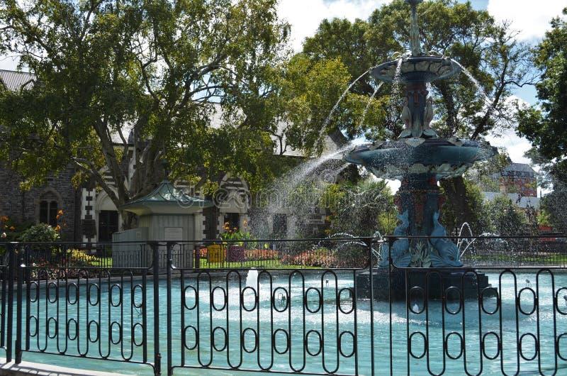 Pauwfontein in Christchurch royalty-vrije stock fotografie