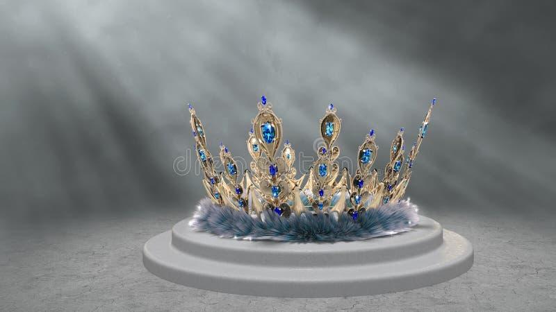 Pauwkroon royalty-vrije illustratie